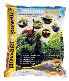 Substrát AQUA-ART Shrimp Sand 1,8kg Powder - čierny