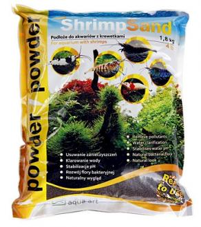 Substrát AQUA-ART Shrimp Sand 1,8kg Powder - hnedý